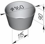 Форма хлебопекарная круглая № 17 Б (литая алюминиевая, 160 х 115 х 90 мм)