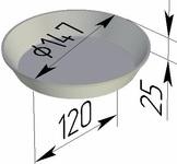 Форма хлебопекарная круглая № 17 Д (литая алюминиевая, 147 х 120 х 25 мм)