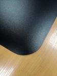 Защитный коврик под компьютерное кресло из полипропилена черный 0,9*1,20м мелкая шагрень (толщина 1,5мм)