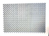 Модуль ковровый «Пила» (из пластиката ПВХ) коврик 0,82 х 0,58м, высота 12мм (грязесборный) РБ серый/черный/коричневый