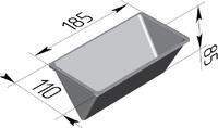 Форма хлебопекарная треугольная (литая алюминиевая, 185 х 110 х 85 мм). Цену уточняйте (т. +375 17 294-03-37, 210-01-48)