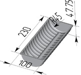 Форма хлебопекарная волнистая (литая алюминиевая, 230 х 100 х 48 мм). Цену уточняйте (т. +375 17 294-03-37, 210-01-48)