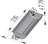 Форма хлебопекарная волнистая (литая алюминиевая, 230 х 100 х 48 мм). Цену уточняйте (т. +375 17 294-03-37, 294-01-42)